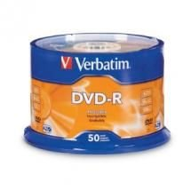 Verbatim DVD-R4.7GB 16x 50Pk White Wide Thermal (Gloss)