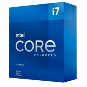 Intel i7-11700KF CPU 3.6GHz (5.0GHz Turbo) 11th Gen LGA1200 8-Cores 16-Threads 16MB 125W Graphic Card Required Unlocked Retail Box 3yrs