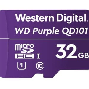 Western Digital WD Purple 32GB MicroSDXC Card 24/7 -25°C to 85°C Weather  Humidity Resistant for Surveillance IP Cameras mDVRs NVR Dash Cams Drones