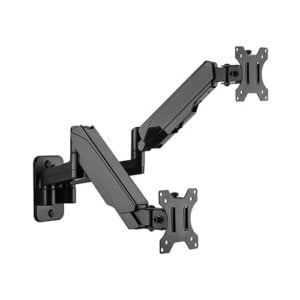 """Brateck Dual Monitor Wall Mounted Gas Spring Monitor Arm 17""""-32"""""""