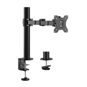 """Brateck Single Monitor Affordable Steel Articulating Monitor Arm Fit Most 17""""-32"""" Monitor Up to 9kg per screen VESA 75x75/100x100"""