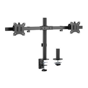 """Brateck Pole Mount Dual-Screen Monitor Mount Fit Most 17""""-32"""" Monitors"""