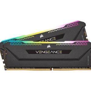Corsair Vengeance RGB PRO SL 16GB (2x8GB) DDR4 3200Mhz C16 Black Heatspreader Desktop Gaming Memory