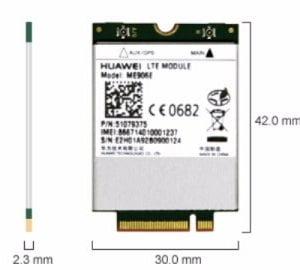 Huawei 4G LTE Int Modem MU906E 4G LTE for LeaderTab W150