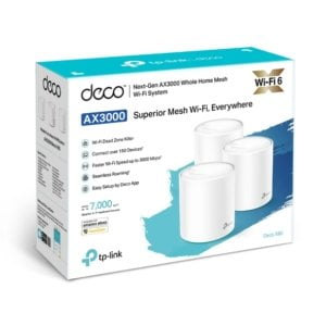 TP-Link Deco X60 (3-pack) AX3000 Whole Home Mesh Wi-Fi System (WIFI6)