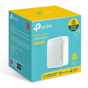 TP-Link TL-WR902AC AC750 750Mbps Dual Band WiFi Wireless Travel Router 1x100Mbps LAN/WAN USB for 3G/4G Modem Pocket Size WISP AP Range Extender Client