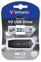 Verbatim 32GB V3 USB3.0 Grey Store'n'Go V3; Retractable USB Storage Drive Memory Stick