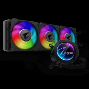 Gigabyte AORUS LIQUID COOLER 360 All-in-one Liquid Cooler with Circular LCD Display
